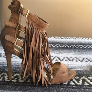 Wild Diva Shoes - Wild Diva Fringe Heels